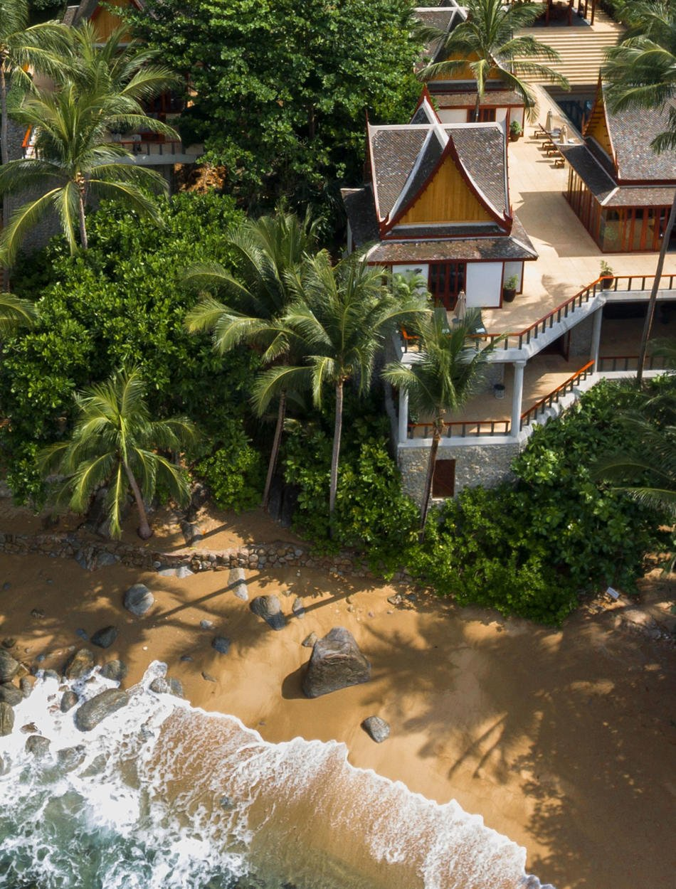Aerial View, Two-Bedroom Ocean Villa, Amanpuri, Thailand