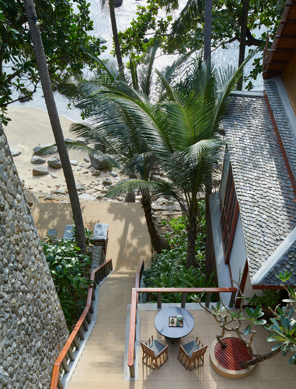 Stairs to Beach, Four-Bedroom Ocean Villa - Amanpuri, Thailand