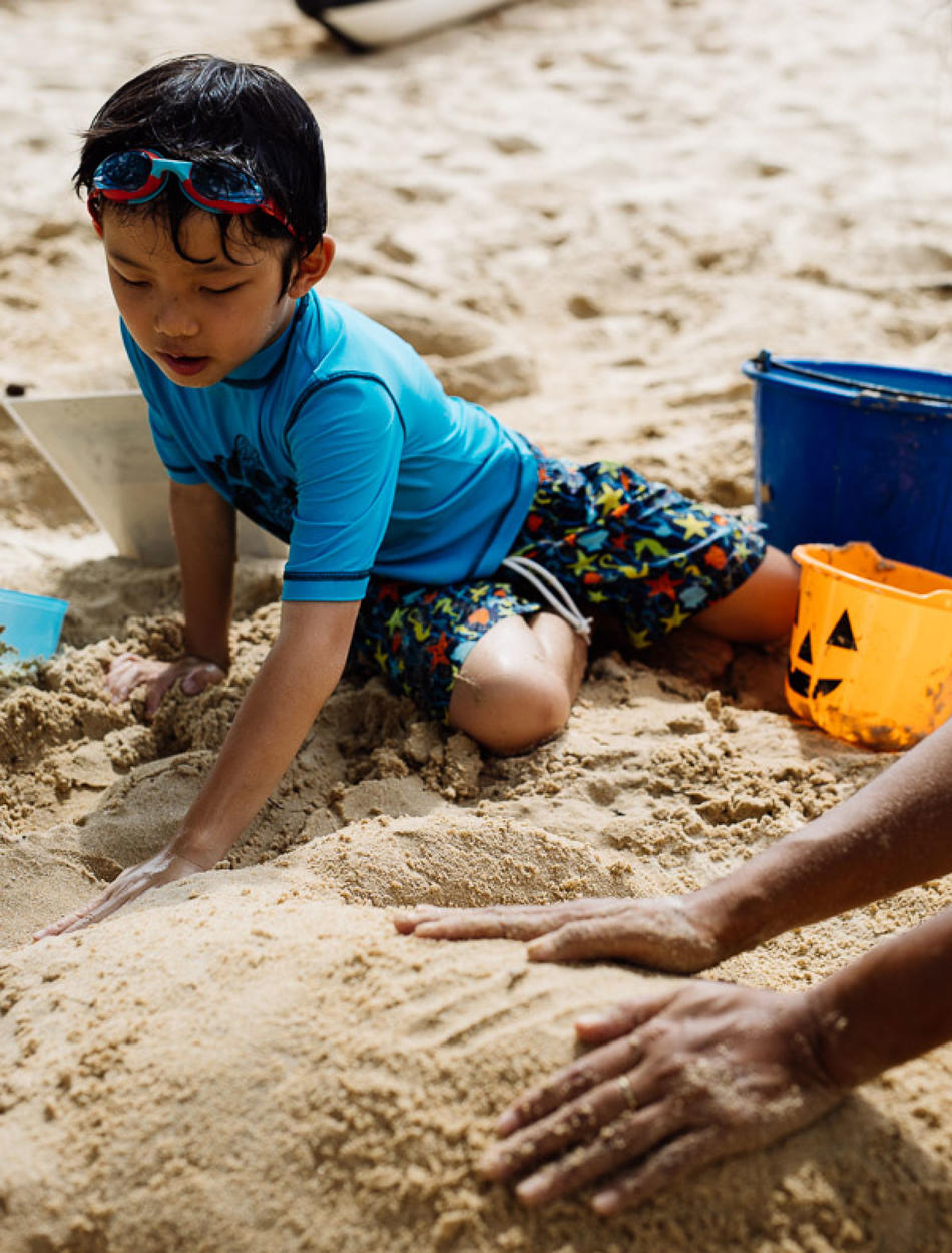 Amanpuri, Thailand - Beach, Child, Sand Castles