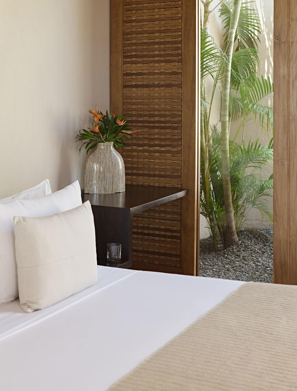 Bedroom Detail, Garden Pool Suite - Amanwella, Sri Lanka
