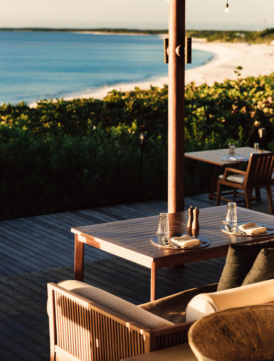Amanyara, Turks & Caicos - Outdoor Dining, Sea Views