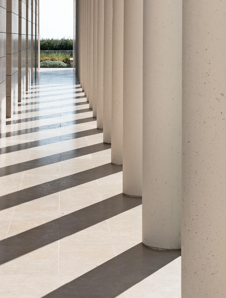 Columned Walkway, Six-Bedroom Villa, Amanzoe, Greece